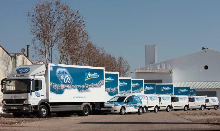 Flota de camiones y coches